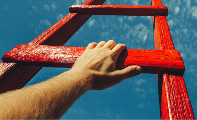 Growth in business ladder image