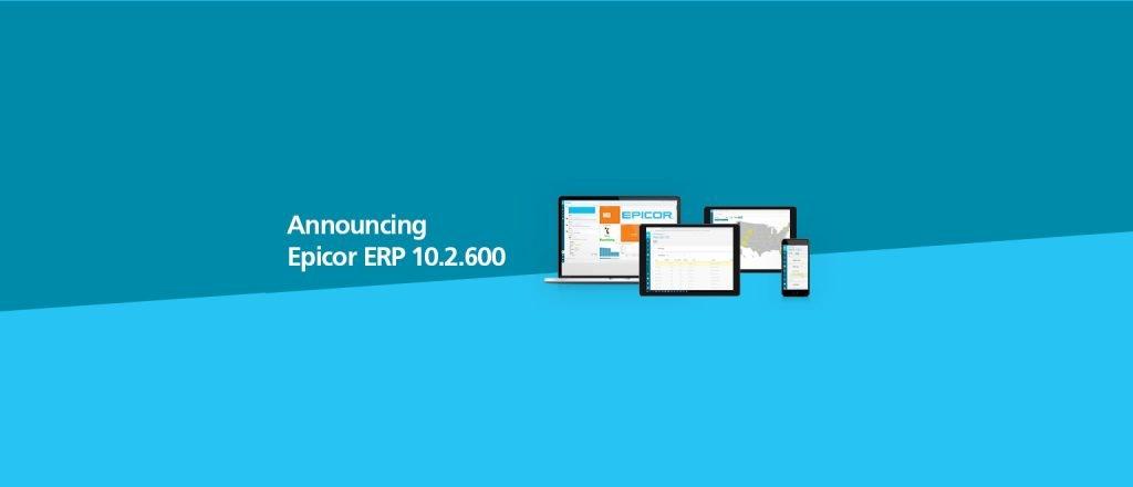 Announving Epicro ERP 10.2.600