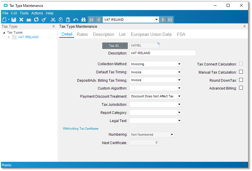 Step 2: Select your current VAT Tax ID